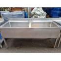 Lavello inox doppia vasca usato